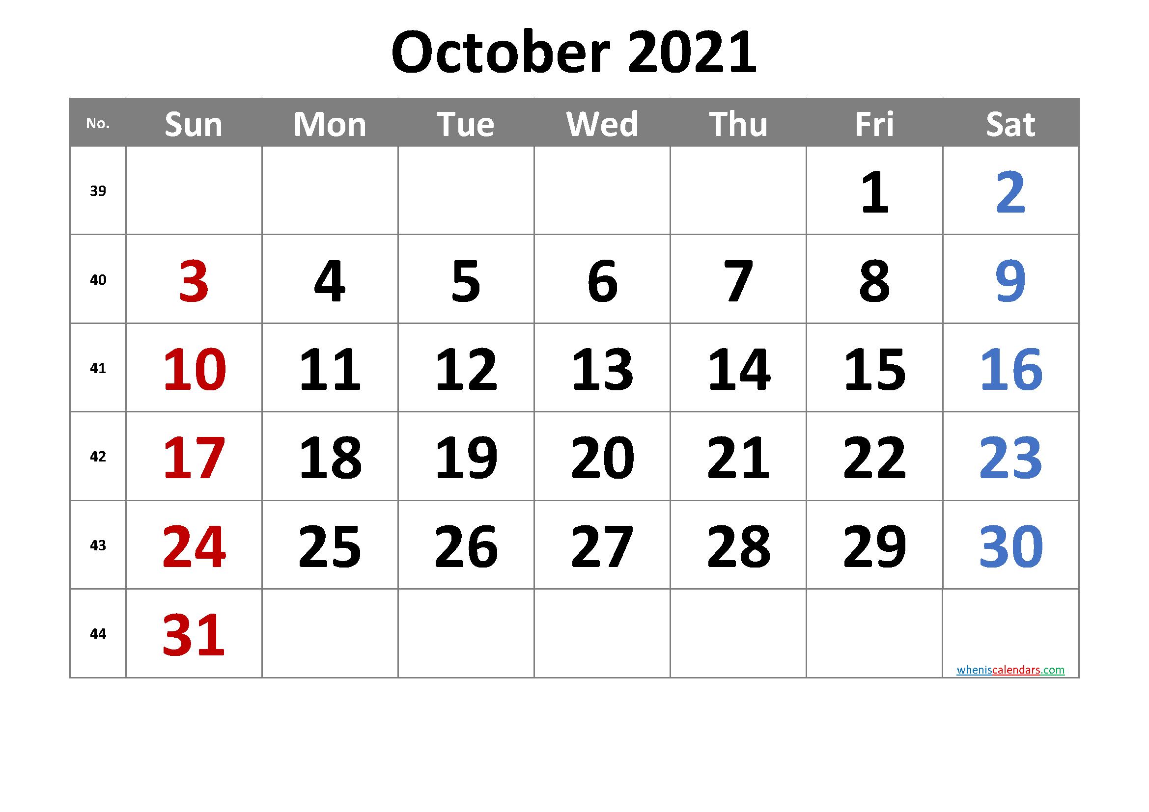 2021 Calendar With Week Number Printable Free / 2021 One Week Schedual Pdf