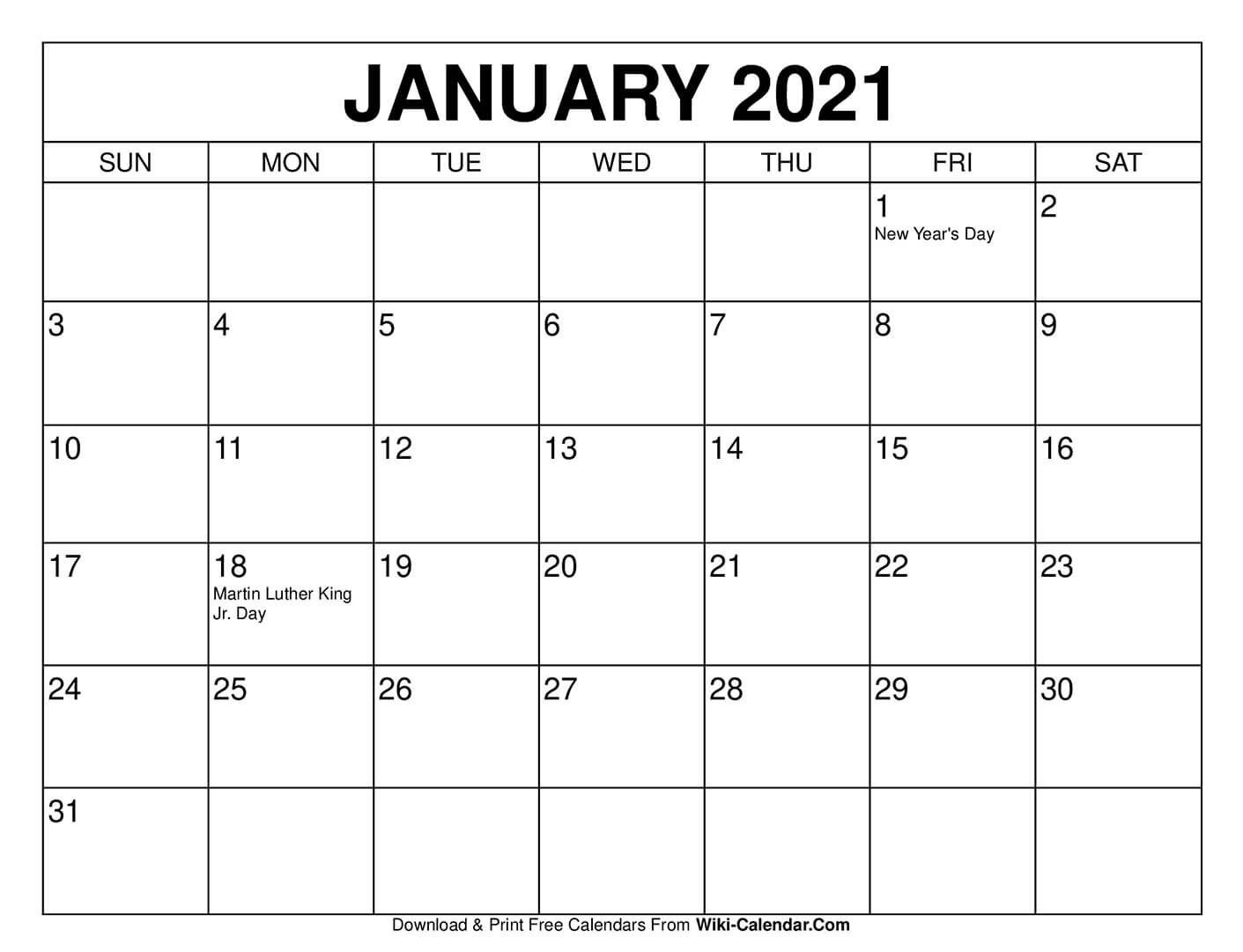2021 Month Printable Calendar 8 1/2 X 11 | Printable Make Of Copy Of Blank Monthly Calendar 8 1/2 By 11