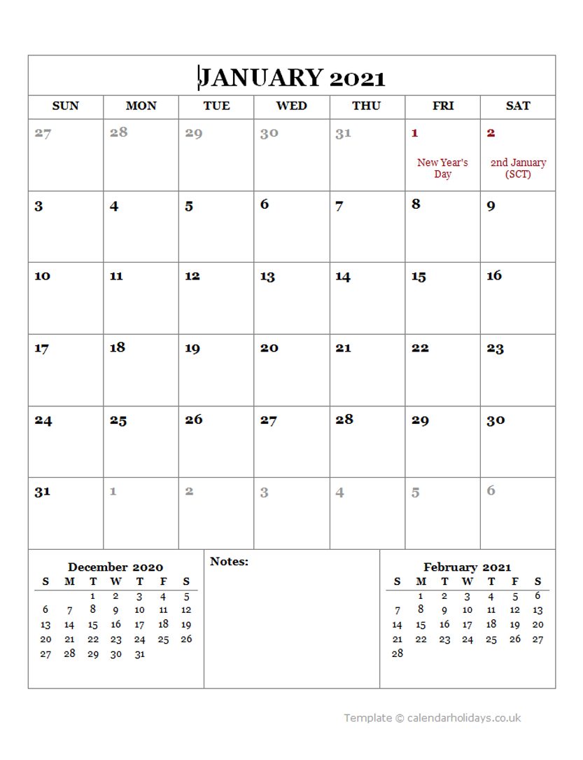 2021 Monthly Template – Calendarholidays.co.uk Three Months Calendar Free