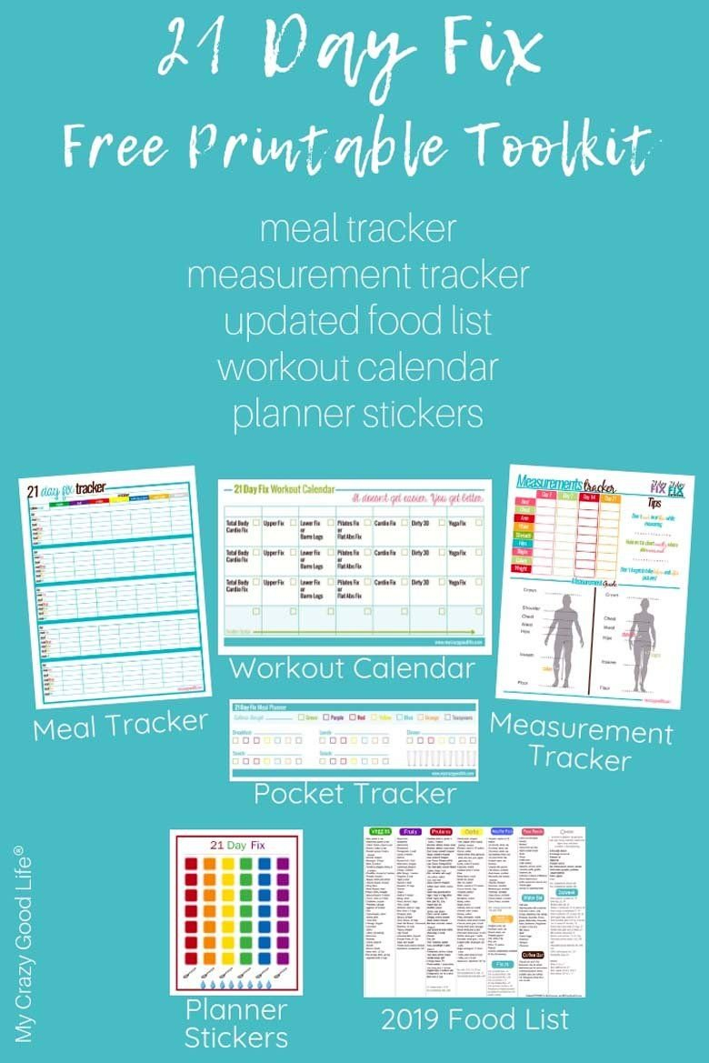 21 Day Fix Free Printables From   21 Day Fix, 21 Day Fix 21 Day Calendar Template