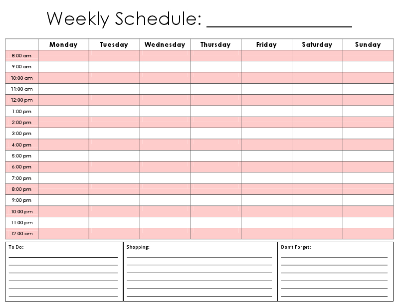 24 Hour Calendar Printable – Calendar Template 2020 8 Week Calendar Pdf
