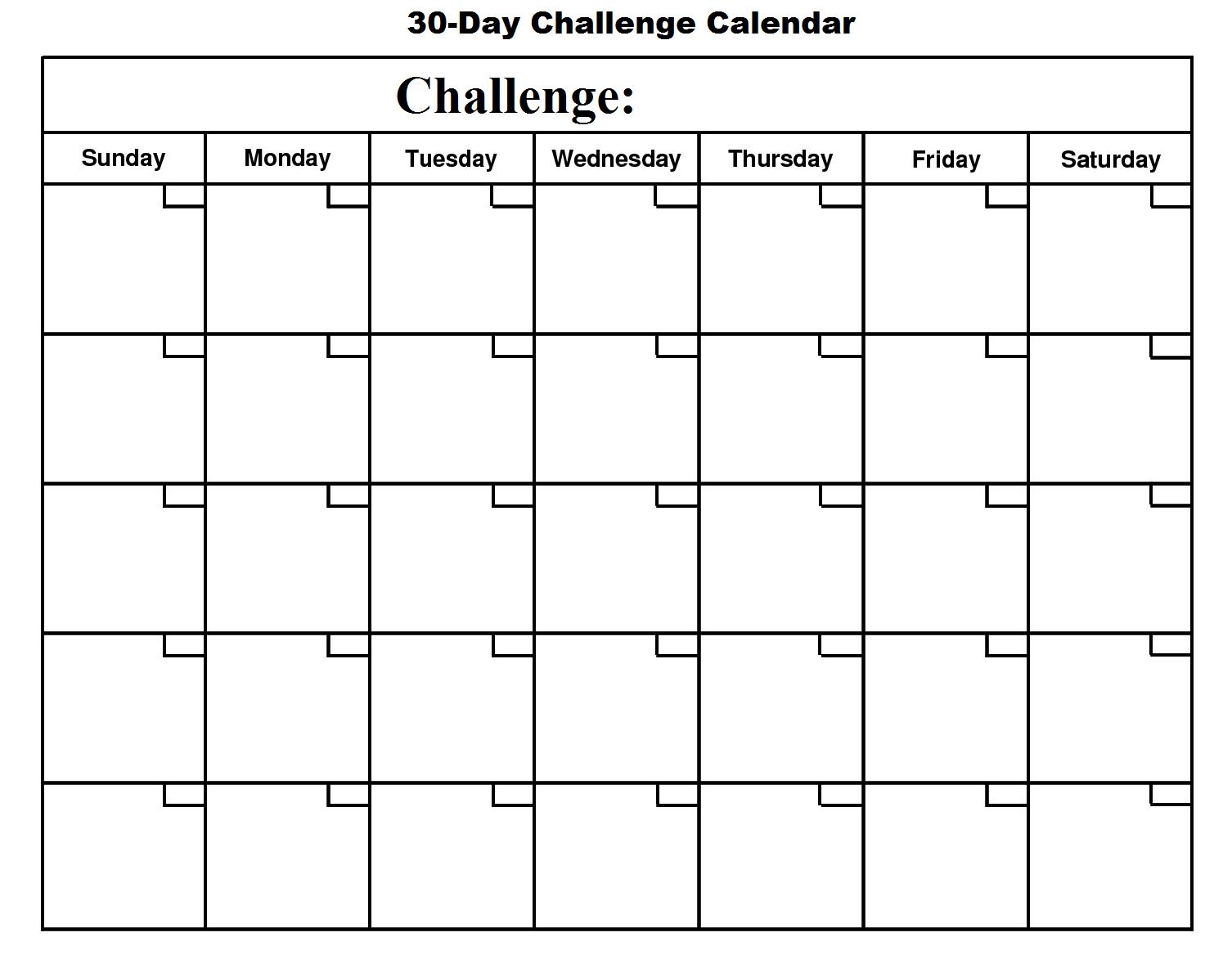 30 Day Calendar - Google Search | Free Calendar Template 21 Day Calendar Template