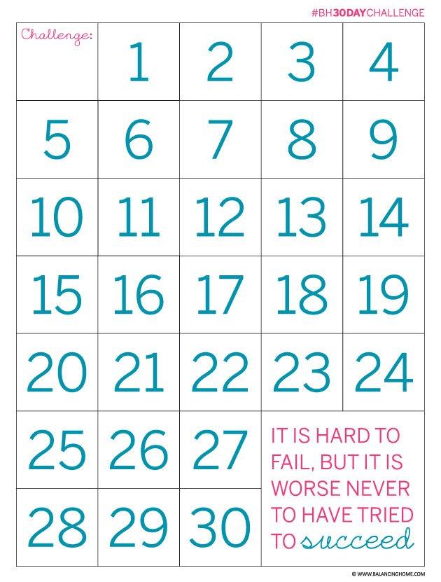 30 Day Calendar Printable – Calendar Template 2020 Blank 30 Day Calender Printable