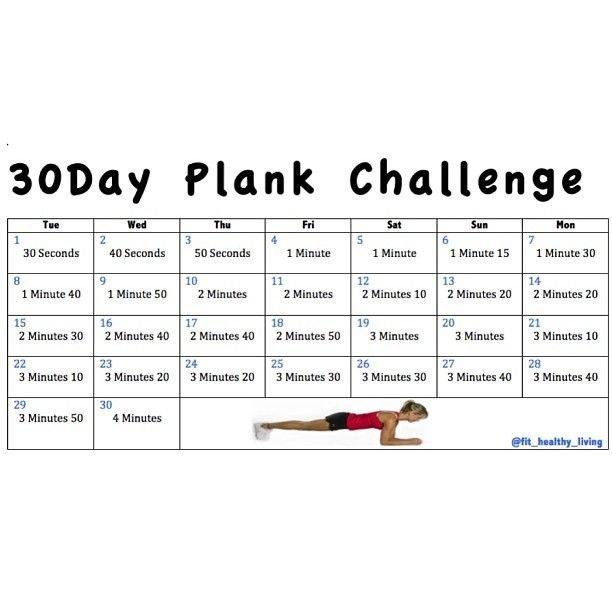 30 Day Plank Challenge Chart : Free Calendar Template Printable Plank Challenge Chart