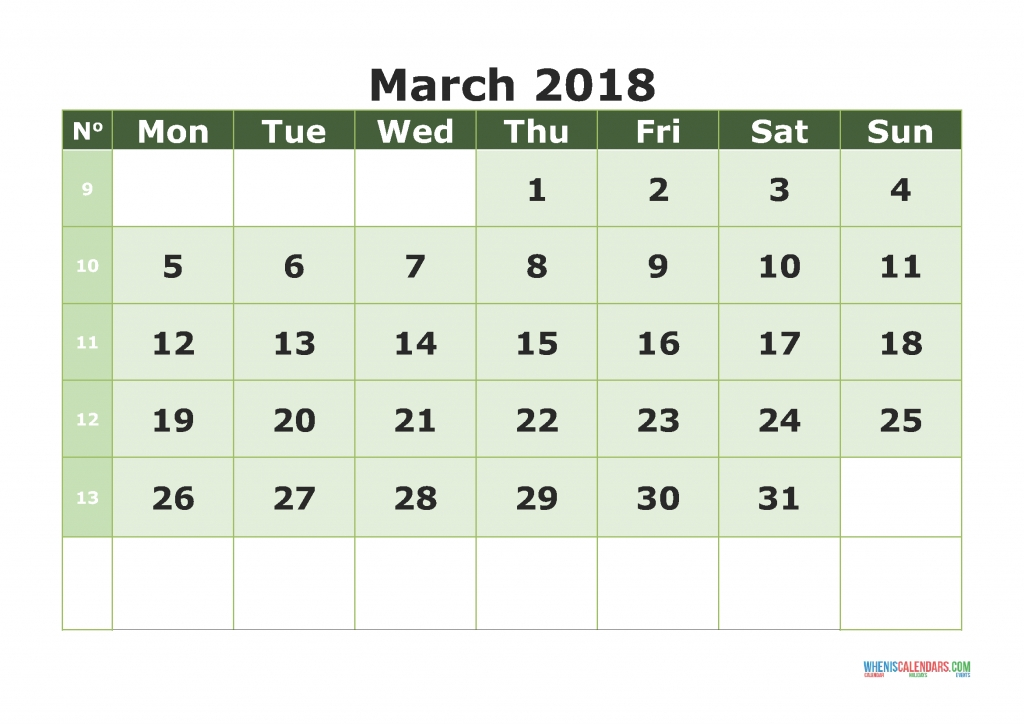 31 Day Calendar Large : Free Calendar Template 31 Day Blank Calendar Printable