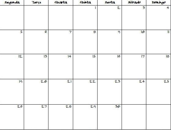 31 Day Calendar Template : Free Calendar Template 31 Day Blank Calendar Printable