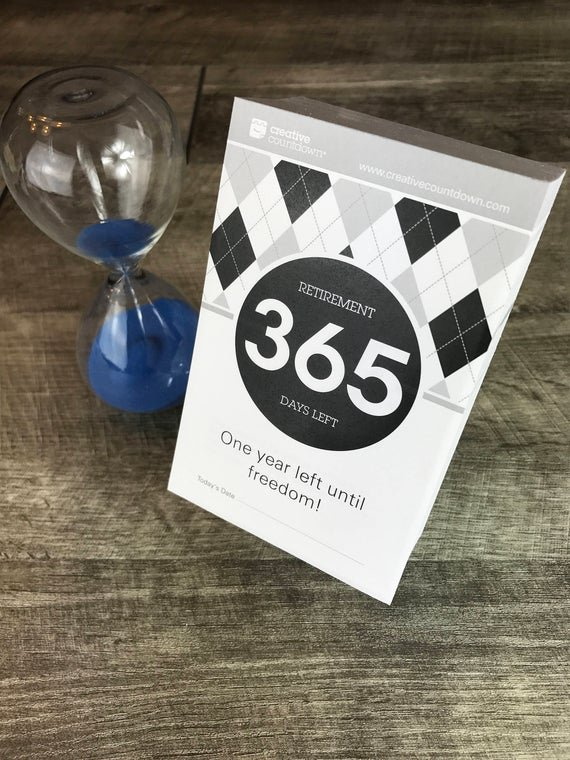 365 Day Countdown To Retirement Tear Off Calendar 1 Year Free 365 Day Countdown Calendar Days