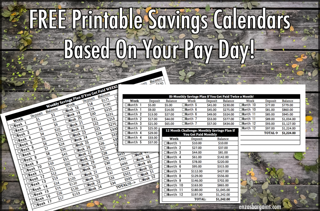 52 Weeks Savings Challenge: Based On When You Get Paid Penny A Day Savings Calendar