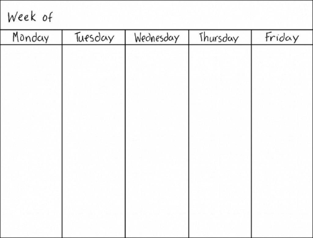 7 Day Week Blank Calendar | 2018 Calendar Template Design 7 Day Week Blank Timetable