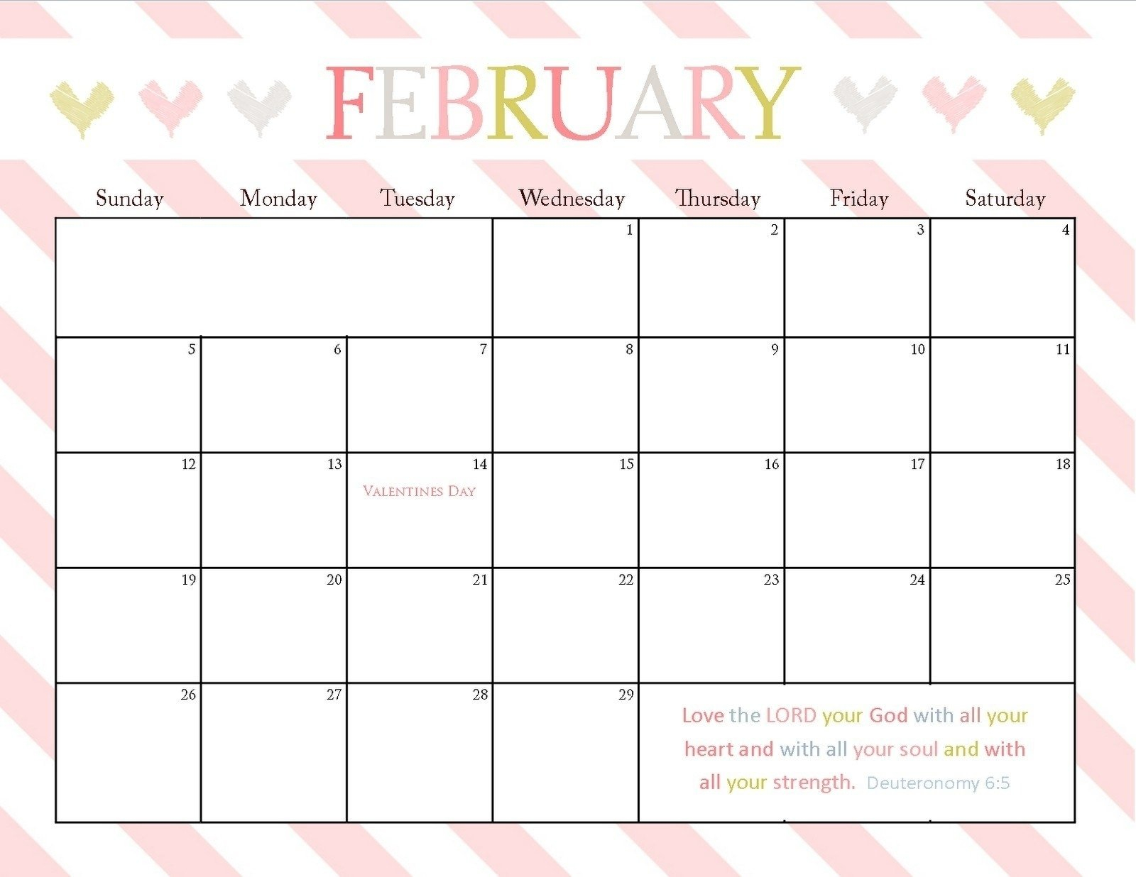 8.5X 11 Blank Calendar | Working Calendar 8 X 11 Calendar Template