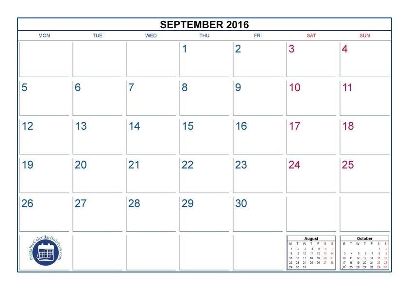 8 X 11 Free Printable Calendar : Free Calendar Template 8 X 11 Calendar Template