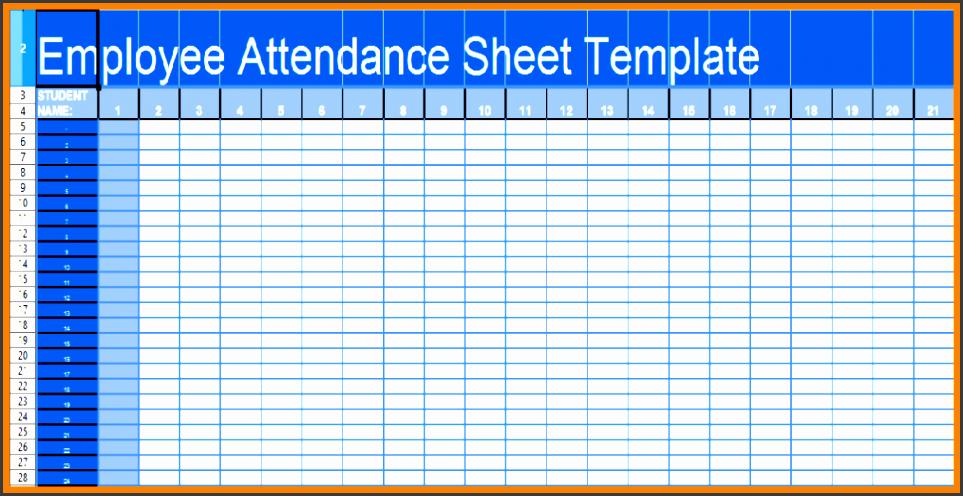 9 Employee Attendance Sheet Template – Sampletemplatess Hr Calendar And Sample