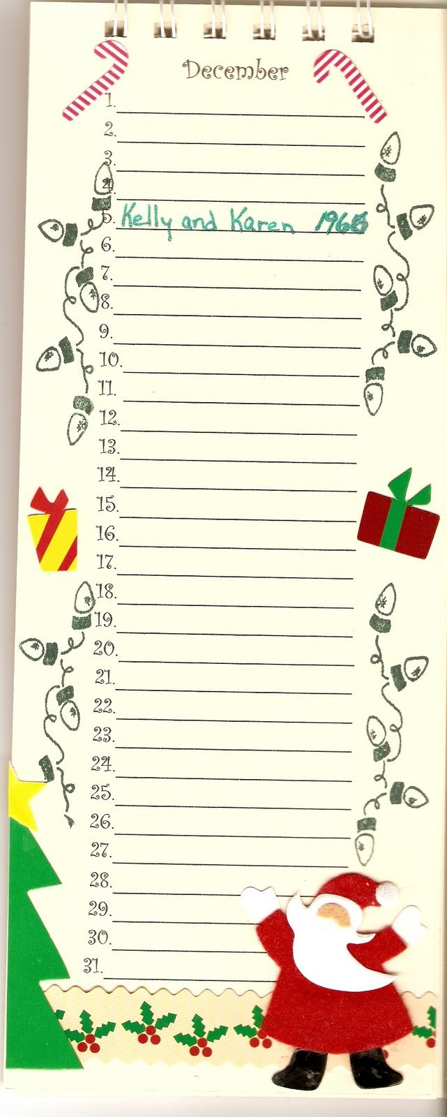 A Page At A Time: Perpetual Birthday Calendar Online Birthday Calenders To Fill In