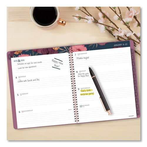 Acco At A Glance Dark Romance Weekly/Monthly Planner | 11 Printable Calendar 8 1/2 X 5.5