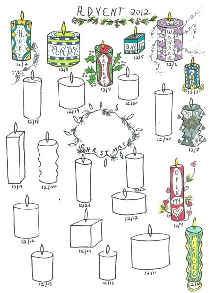 Advent Wreath | Praying In Color Calendares To Print That Have The Week M Thru Sunday