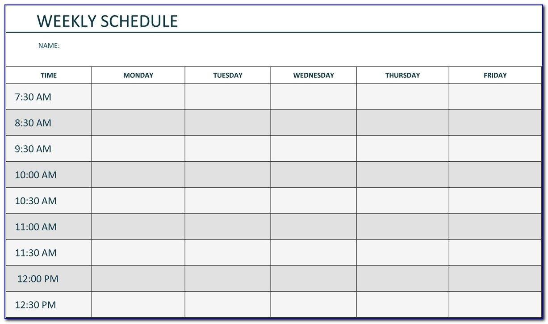 Agenda Monday To Friday   Ten Free Printable Calendar 2020 Sample Calendar Monday To Friday