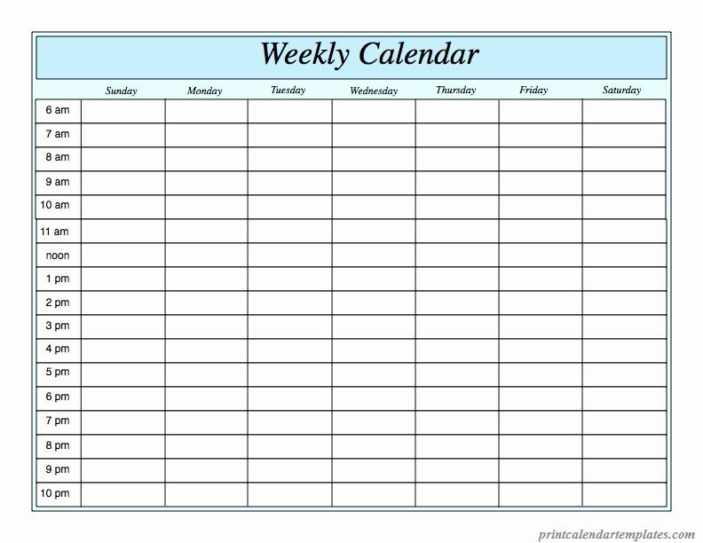 Agenda With Time Slots Luxury Free Printable Weekly Free Calendar With Time Slots