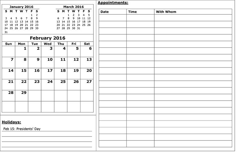 Appointment Calendar Template Options You Can Use Right Now Diabeic Calenders To Write On Then Print It Out'