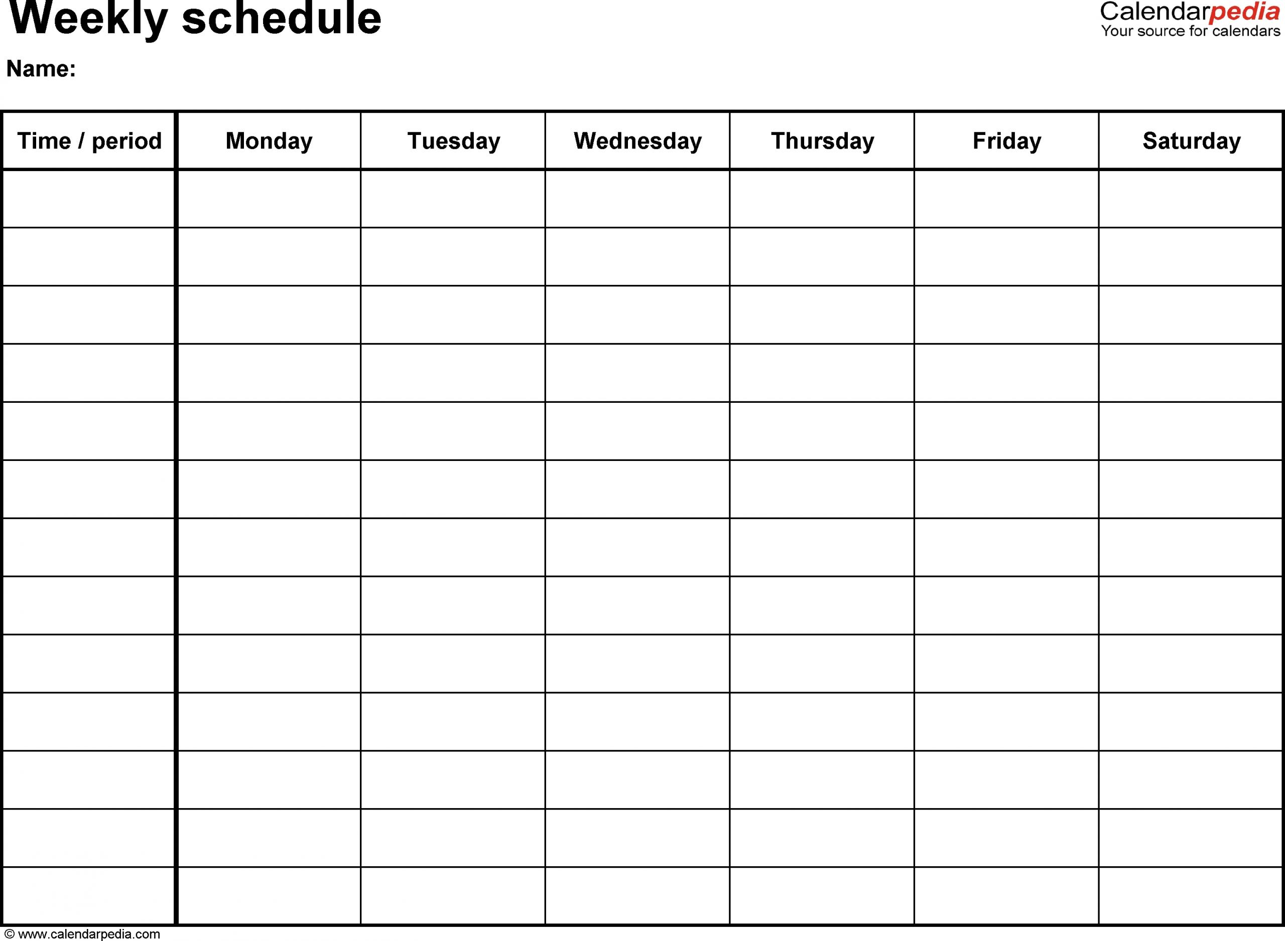 April 2019 – Page 2 – Template Calendar Design Blank Printable 8 Week Schedule