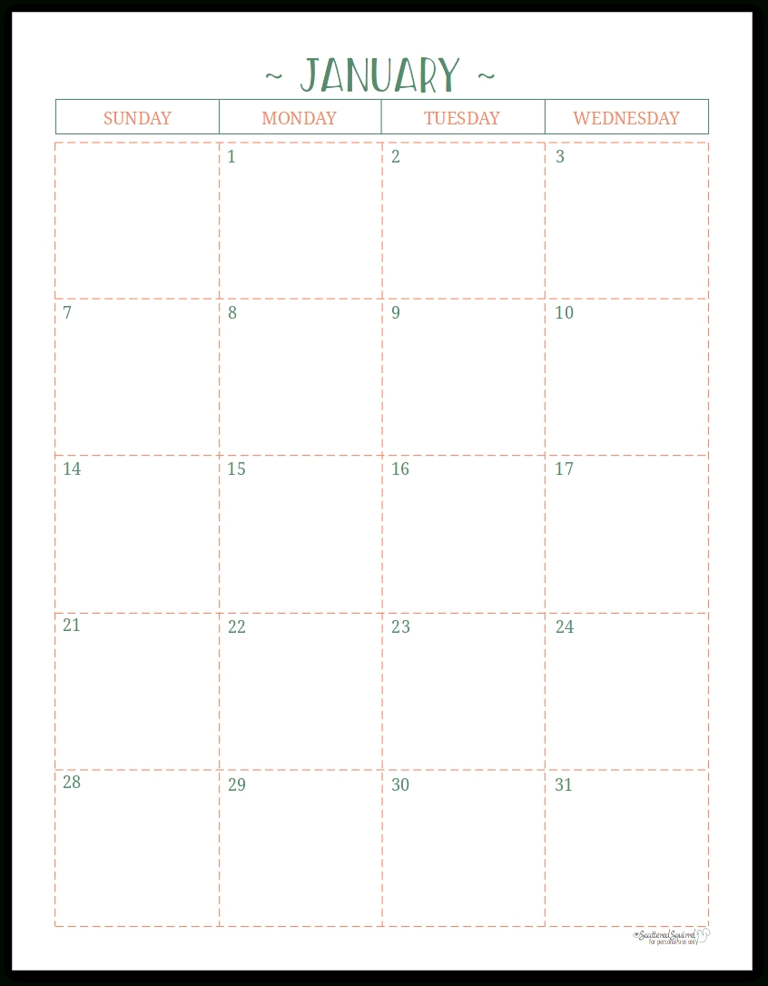 At A Glance Lined Monthly Calendar Printable   Calendar Free Printable Lined Monthly Calendar