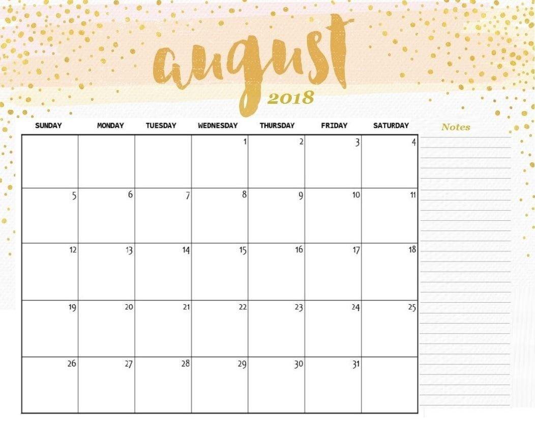August 2018 Calendar Editable   Calendar Printables, 2018 Online Calander I Can Edit