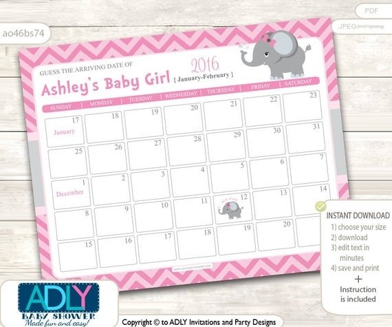 Baby Calendar Free Guess | Printable Calendar Template 2021 Babies Due Date Guess Large Print Out