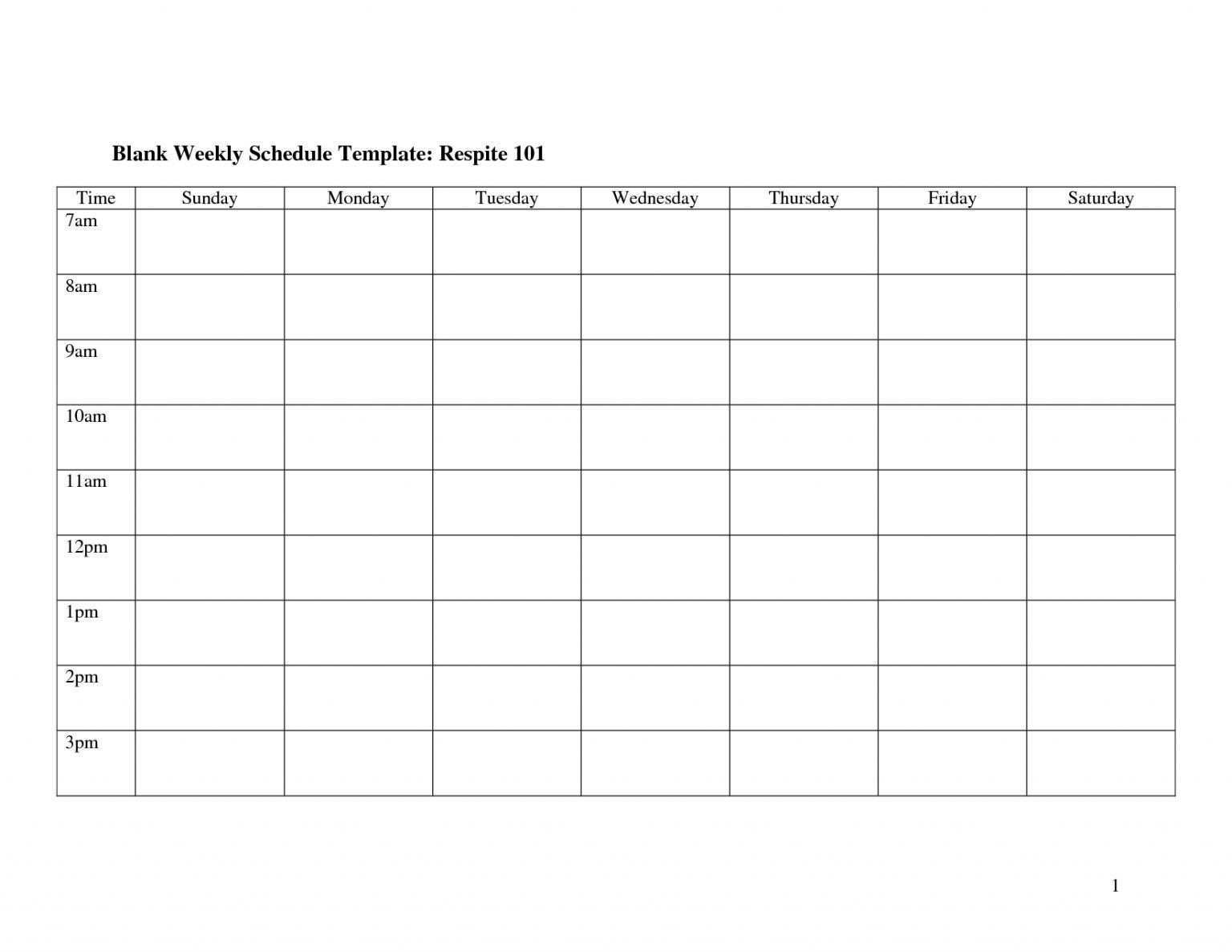 Blank 2 Week Schedule :-Free Calendar Template Blank Two Week Calendar