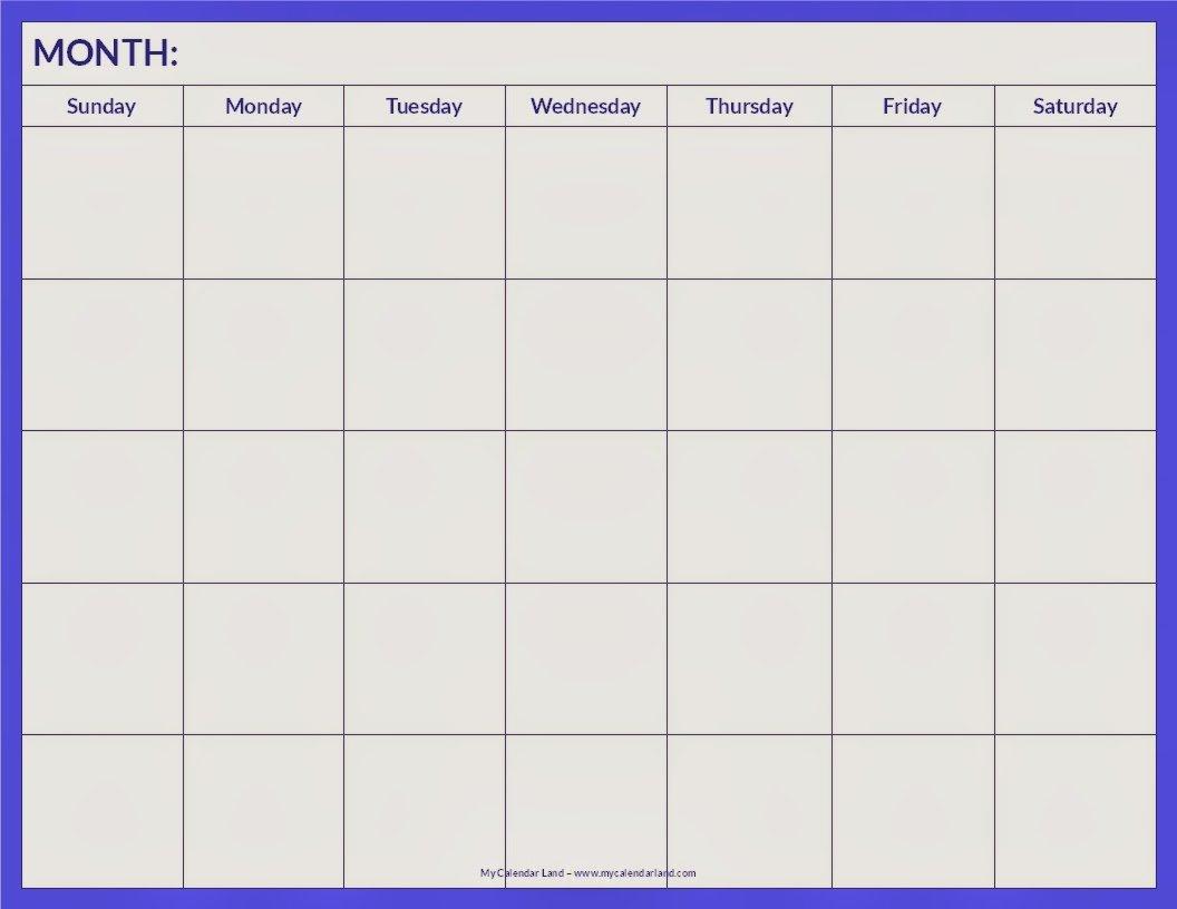 Blank Calendar 2013 – 2014 | 2016 Blank Calendar Weekly 2 Page Calendar
