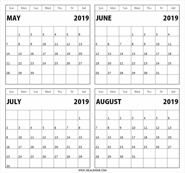 Blank Calendar 4 Months One Page | Example Calendar Printable Free Printable 3 Month Calendars