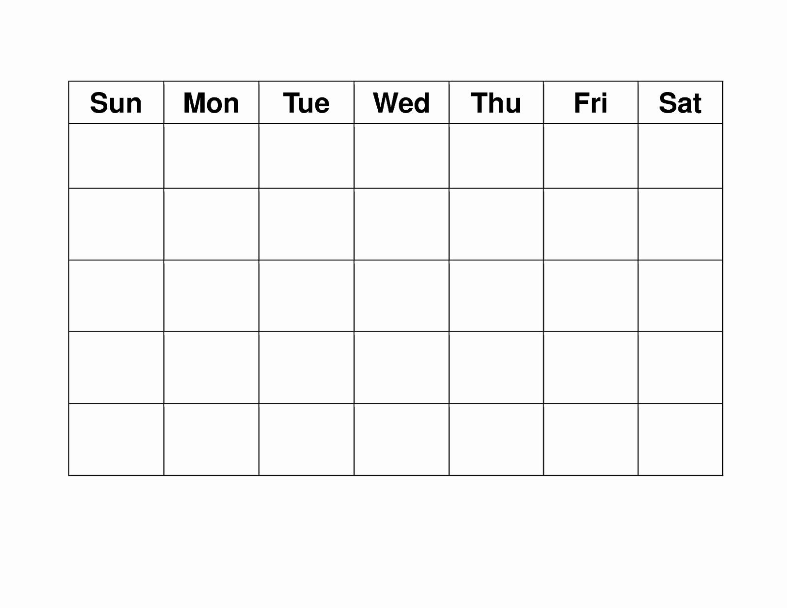 Blank Calendar Monday Through Sunday – Calendar Printable Free Blank Monday Through Sunday Schedule