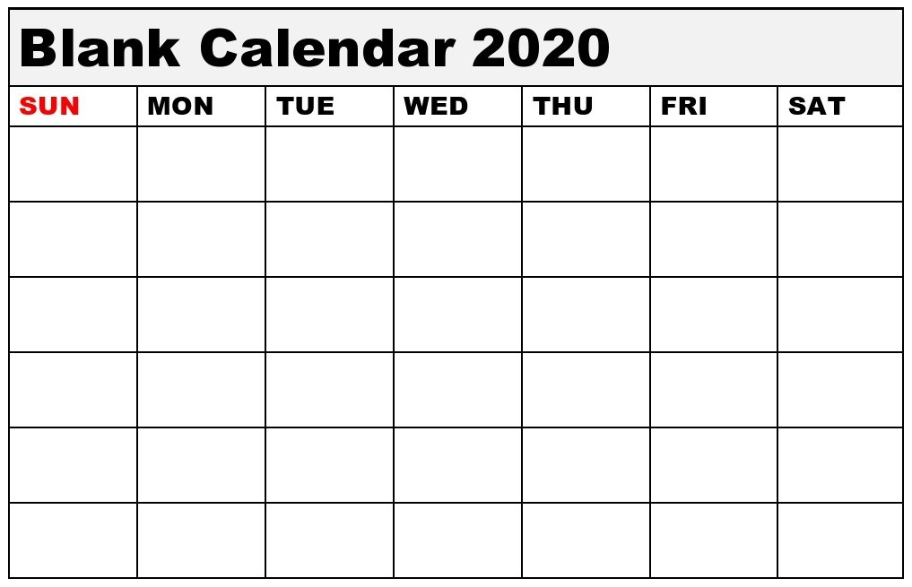 Blank Calendar Template And Editable Template Download Blank Monthly Calendar Page Without The Year