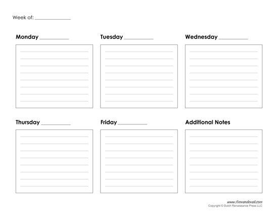 Blank Lined Weekly Calendars : Free Calendar Template Blank Lined Calander Templates