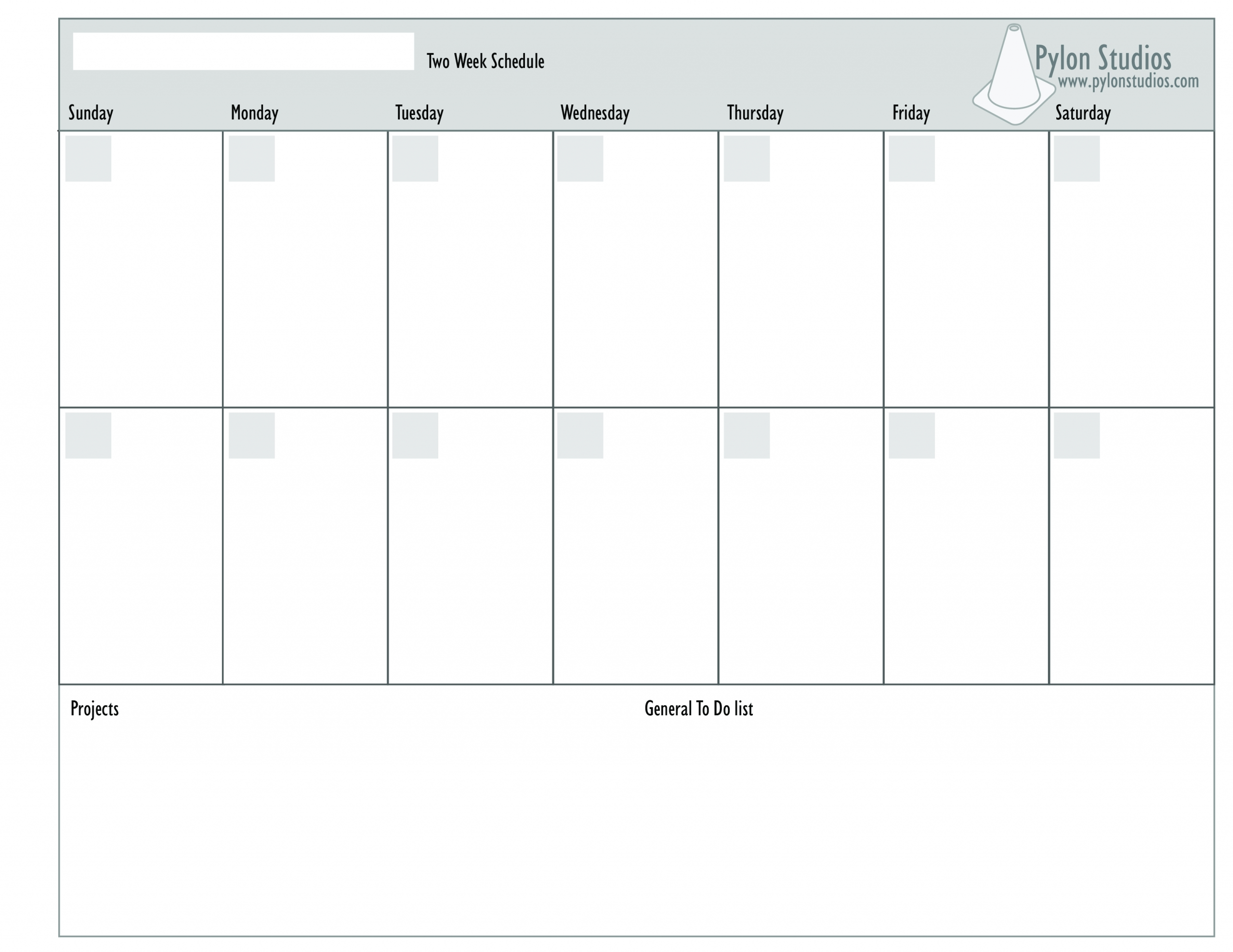 Blank Monday Through Friday Template | Ten Free Printable Mon - Fri Calender Layout Download