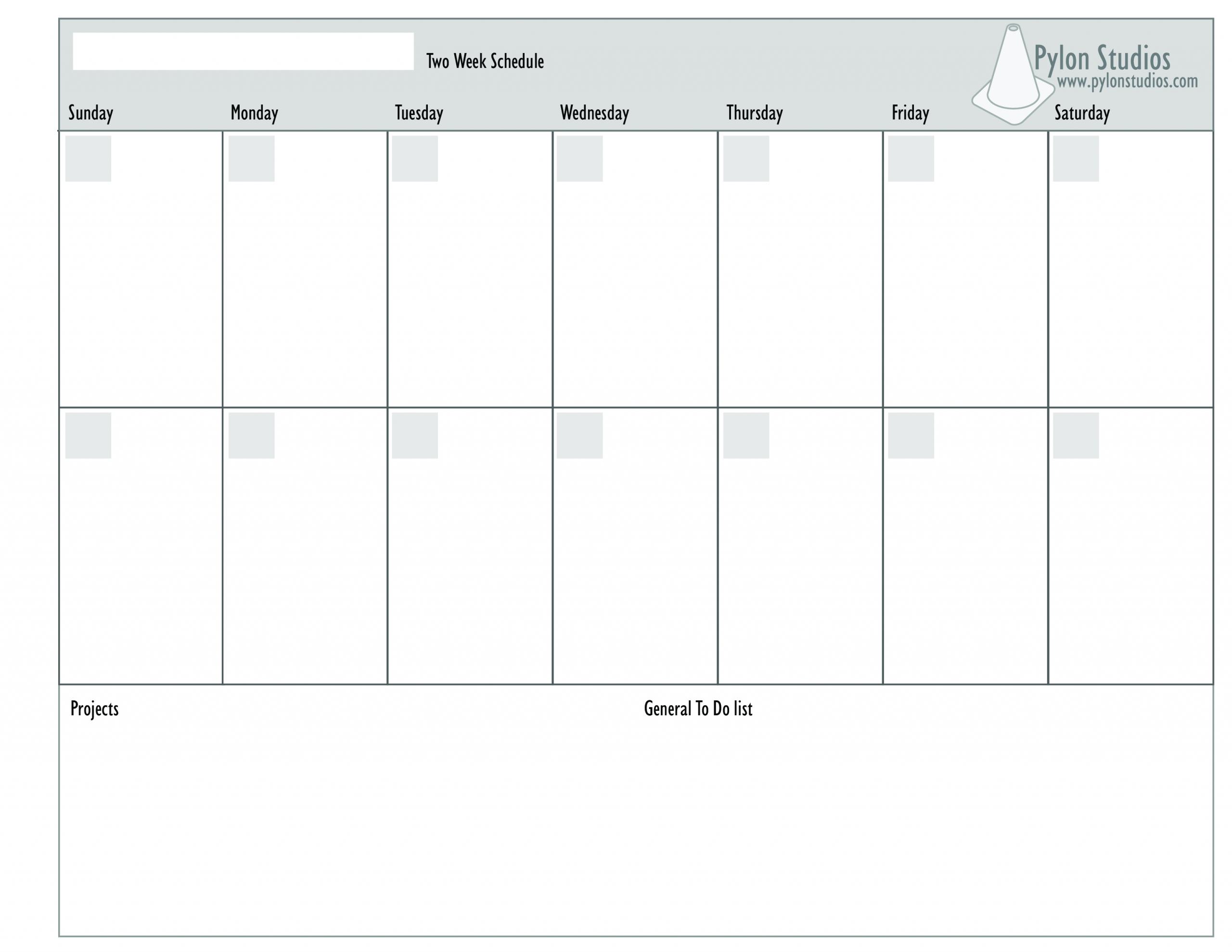 Blank Monday Through Friday Template | Ten Free Printable Monday Through Friday Planner Template
