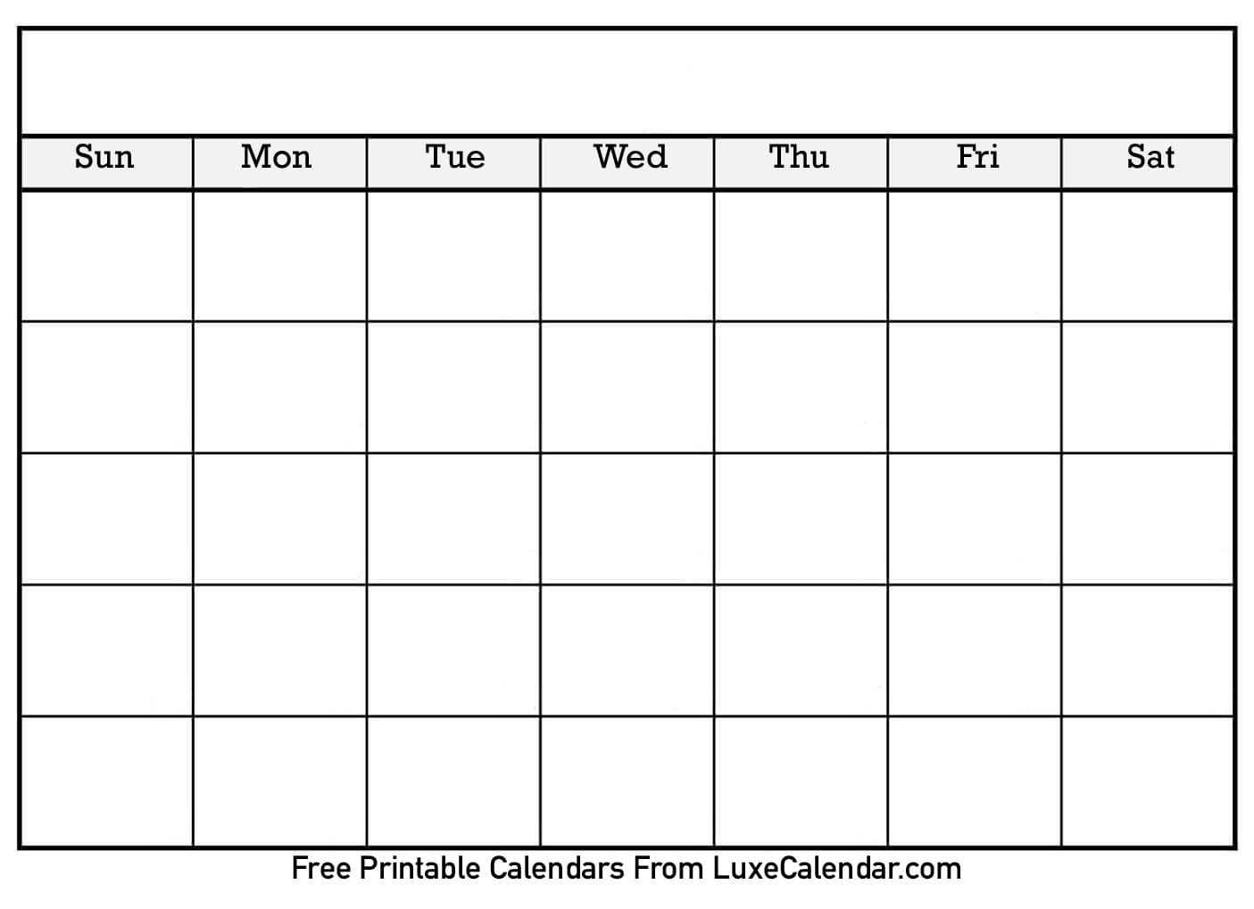 Blank Printable Calendar | 2020Calendartemplates Short Timer Calendar Template