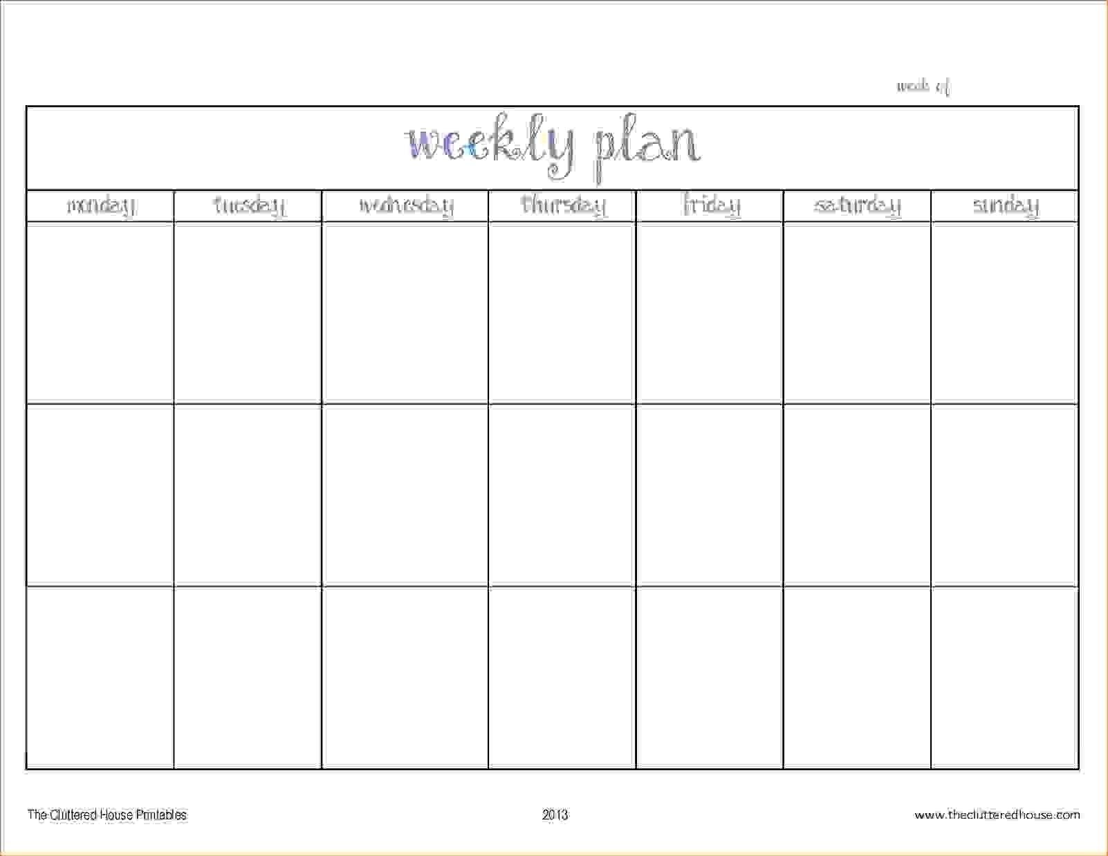 Blank Two Week Schedule Template – Calendar Inspiration Design Printable Two Week Schedule