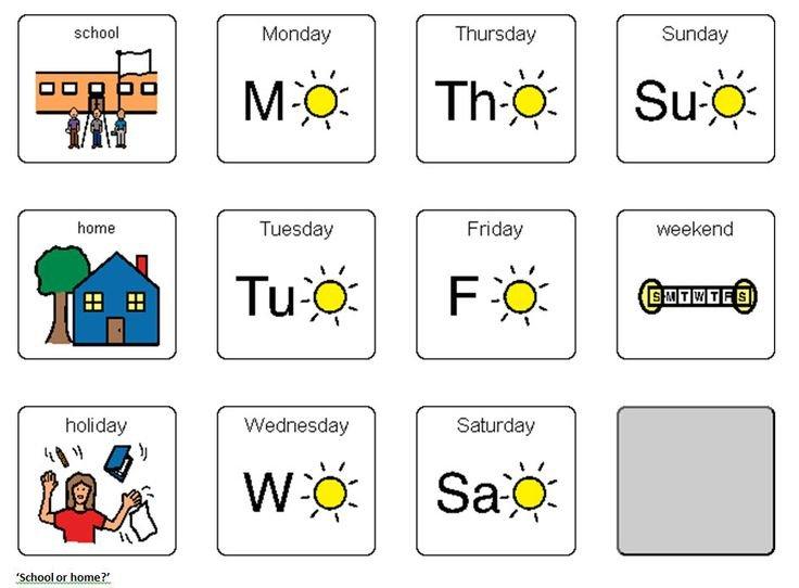 Boardmaker Symbols Days Of The Week Monday – Google Search One Week Monday Through Saturday Communication Calendar