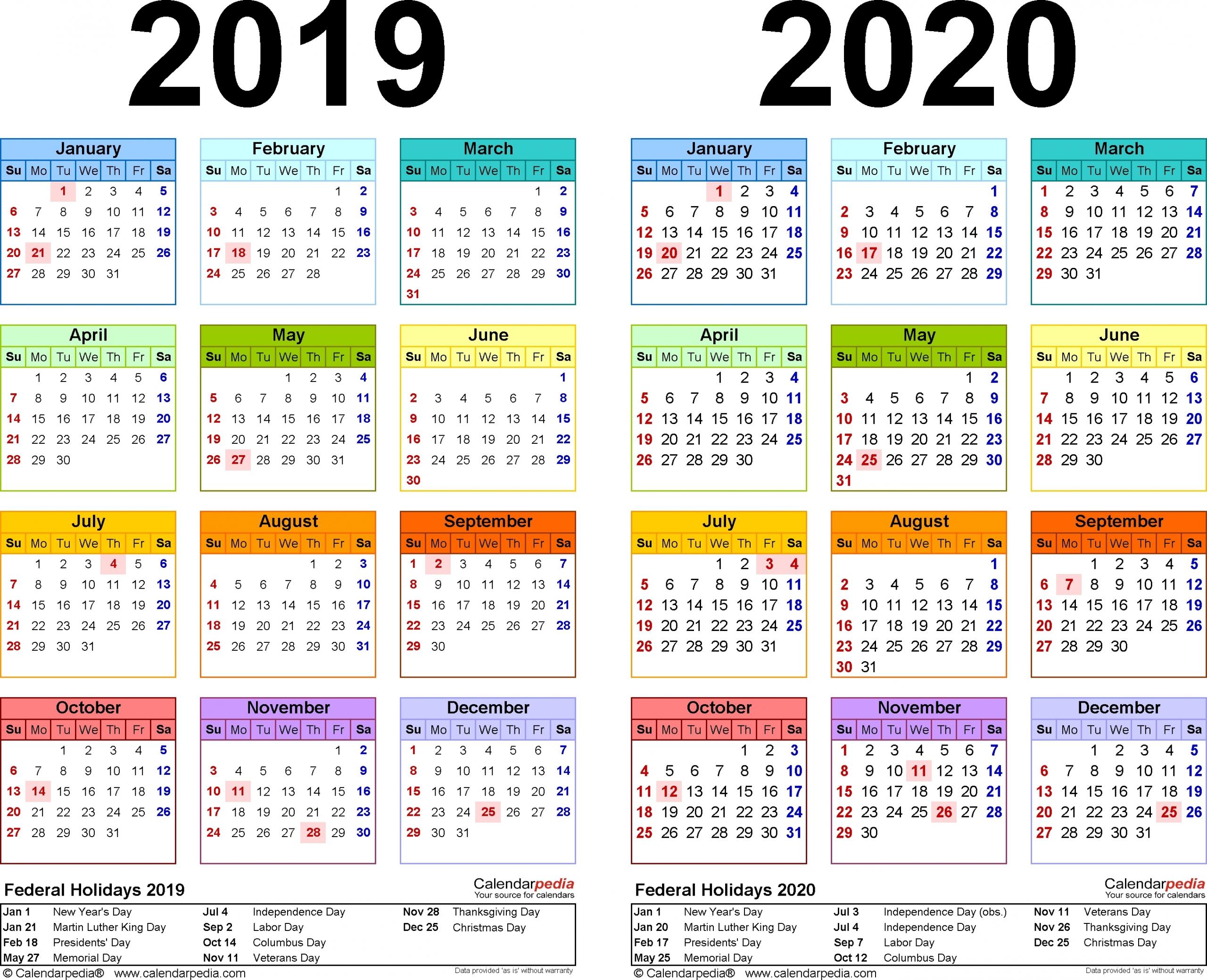Calendar 2019 2020 365 – Calendar Inspiration Design List Of 365 Days Template