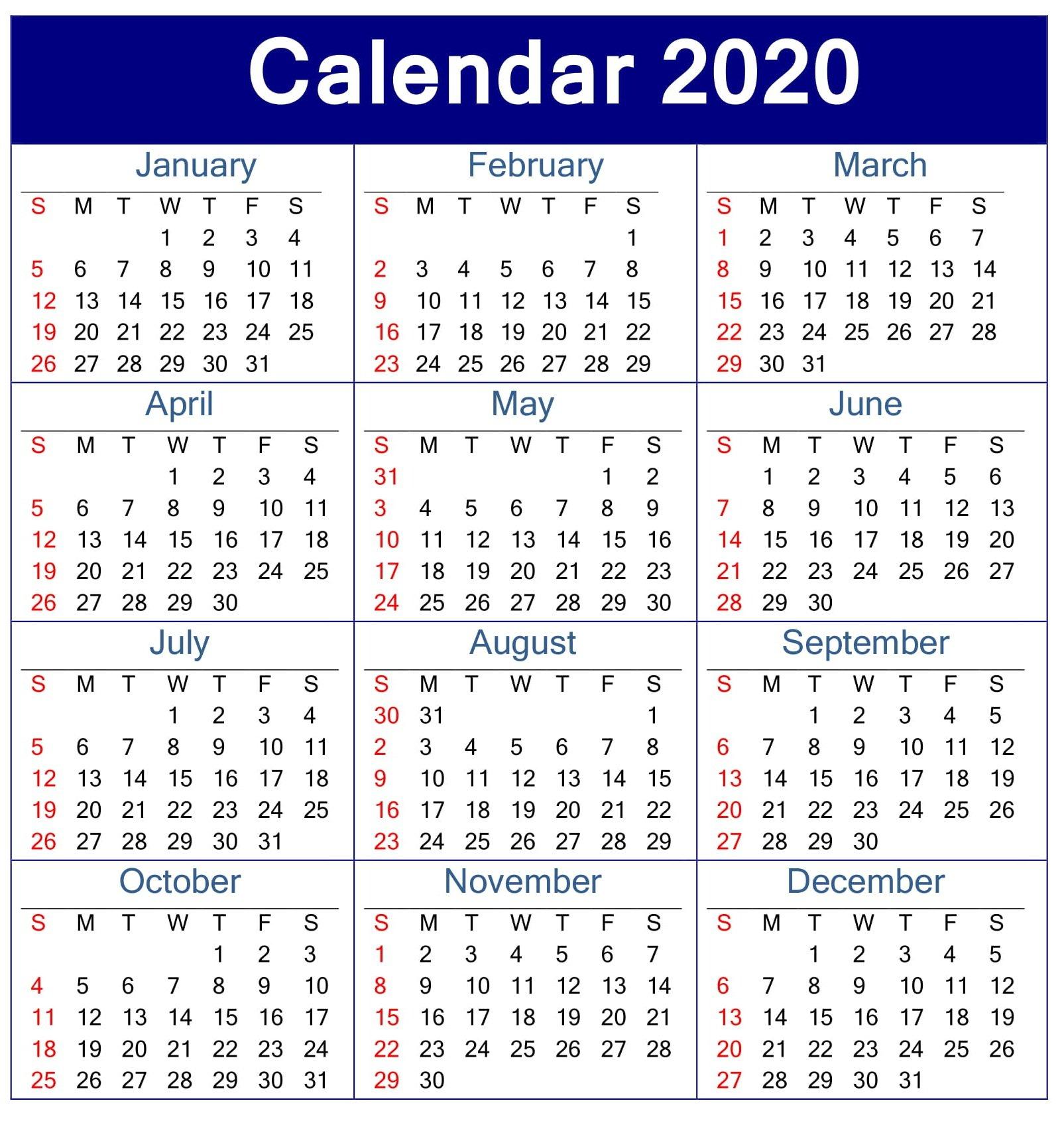 Calendar 2020 With Week Numbers Images 32 Next Two Week Calendar