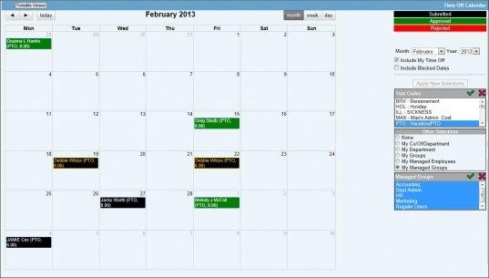 Calendar For Time Off   Printable Calendar Template 2020 Excel Templates For Time Off Calender