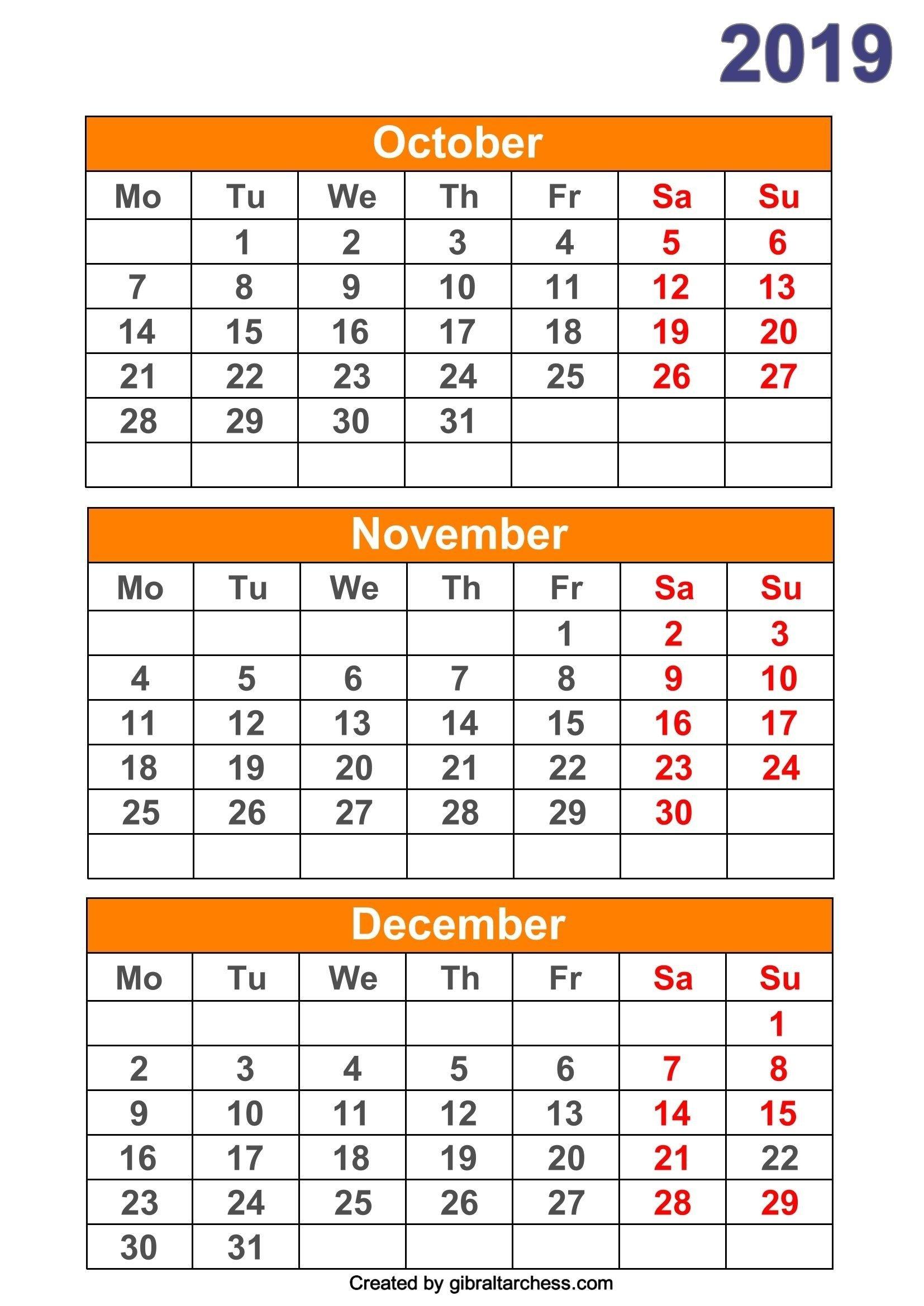 Calendar Templates 3Months Per Page | Calendar Template Three Months Calendar Free