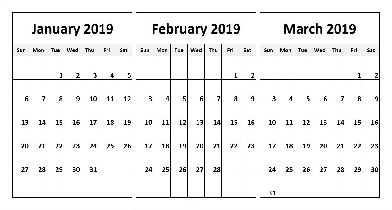 Calender For Last 3 Months – Calendar Inspiration Design Printable 3 Month Calendar