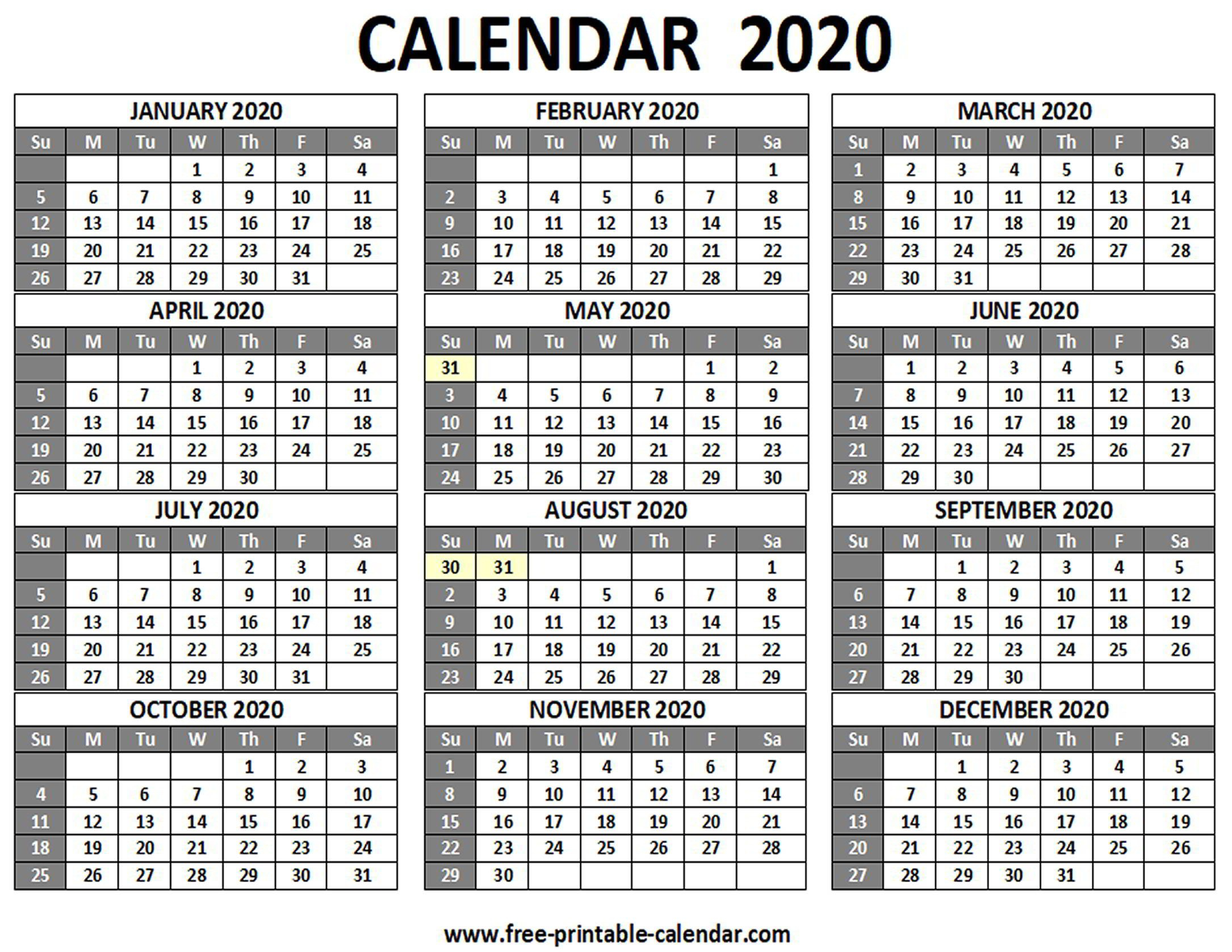 Catch 2020 Printable Calendar All Months   Calendar Free Weekly Calendar Fillable With Times Starting At 6Am