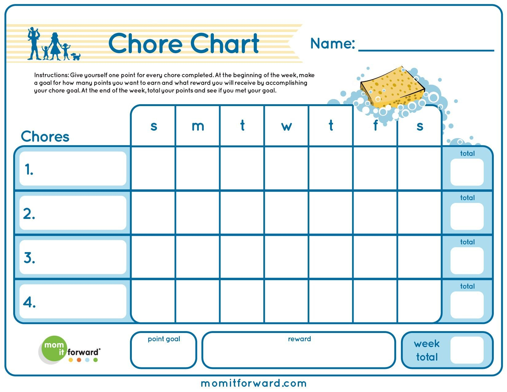 Chore Chart Printable | Chore Chart, Printable Chore Chart Printable Two Week Chart