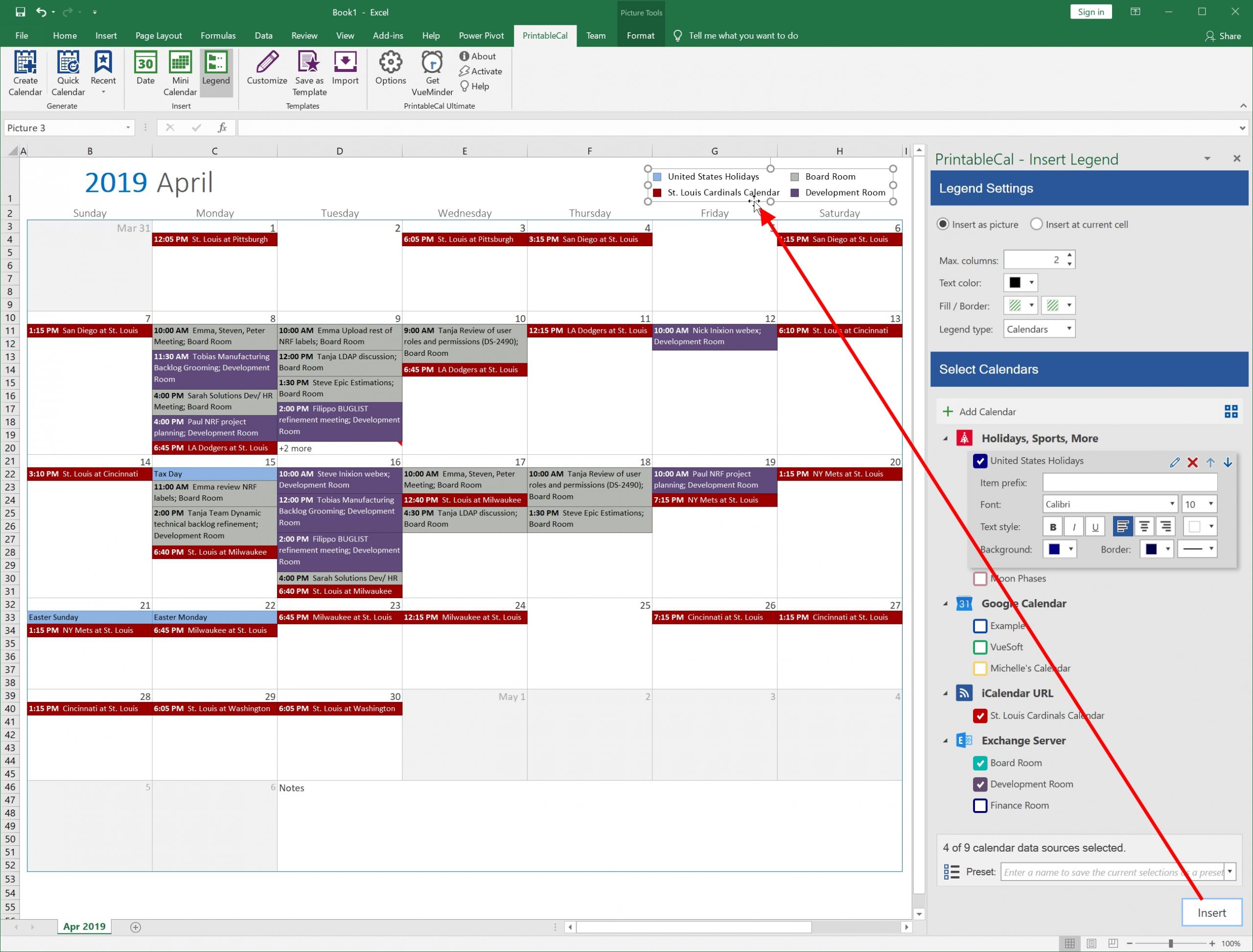 Color Coded Calendar In Excel | Calendar Template 2021 Free Color Coded School Calendar Template