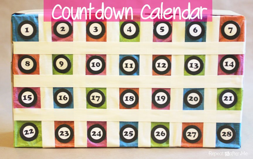 Countdown Calendar – Repeat Crafter Me Free 365 Day Countdown Calendar Days
