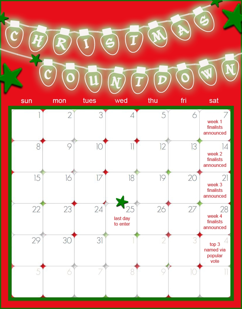 Countdown Calendar Template Word | Free Calendar Template 30 Day Challenge Excel Template