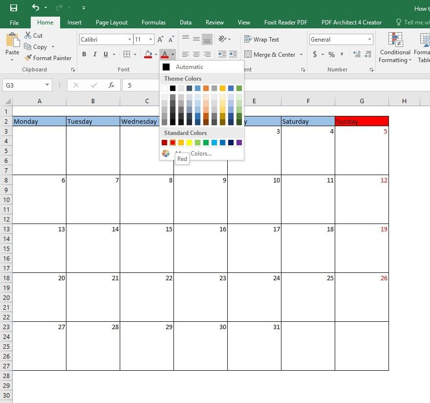 Create Calendar In Excel In Just 5 Mins【How To Make 5 Day Calendar Excel