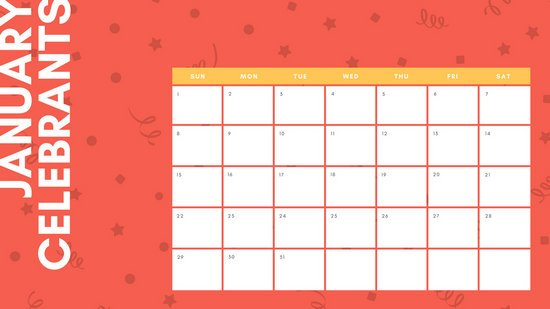 Customize 32+ Birthday Calendar Templates Online – Canva Online Birthday Calenders To Fill In