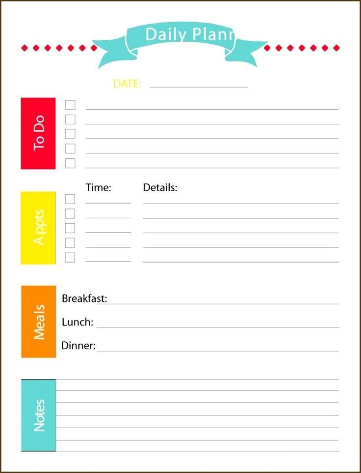 Daily Calendar Printable Template | Daily Planner 5 Ay Free Calendar